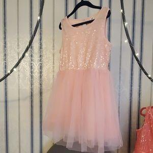 Cherokee Girls Light Pink Sequin & Tulle Dress